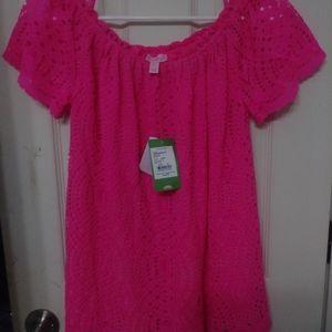 Lilly Pulitzer pink shirt